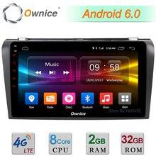 "C500 + 9 ""4 г LTE WI-FI Android 6.0 Octa core 2 ГБ Оперативная память 32 ГБ Встроенная память dab + DVR TPMS DVD мультимедиа плеер Радио для Mazda 3 2007-2012"
