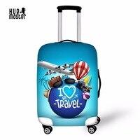 Чехол для чемодана Любовь Путешествия 3D с принтами для багажа защитный Чехлы мангала эластичные Туристические товары чехол для чемодана с ...