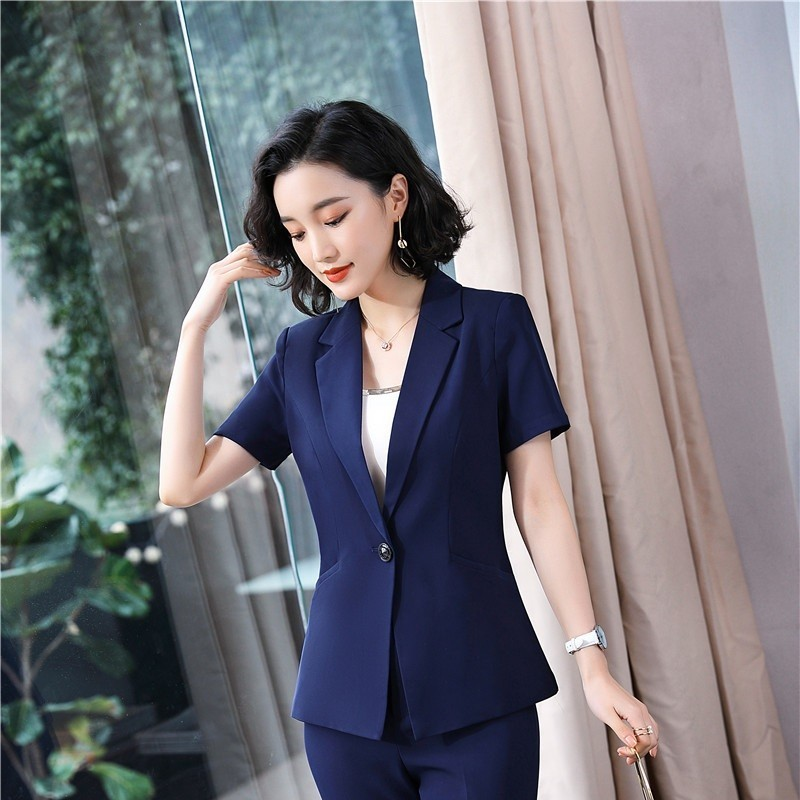 Summer Short Sleeve Slim Fashion Women Blazers And Jackets Coat Business Work Wear Female Outwear Ladies Tops Clothes