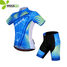 цена на WOSAWE Summer Sport Cycling Jersey Sets Gel Pad Bike Ciclismo Bicycle Bicicleta Maillot Mtb Short Sleeved Cycling Clothings