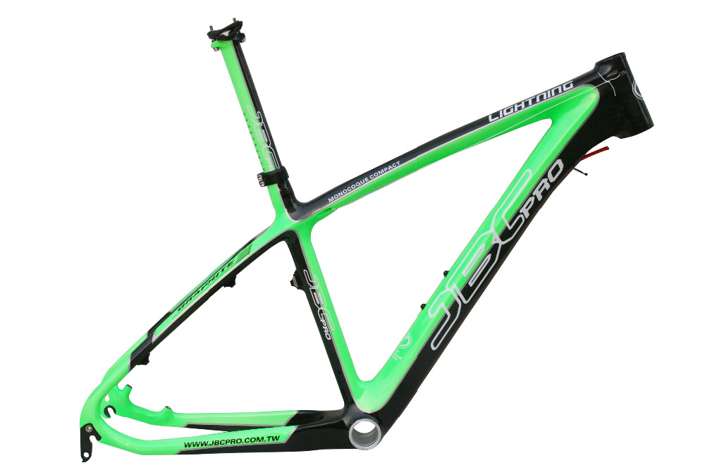 JBC Lightning Carbon MONOCOQUE MTB Frame With Seat Post And BB30 16