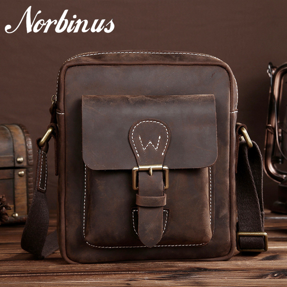 Real Crazy Horse Leather Retro Male Messenger Shoulder Genuine Cowhide Men Cross Body Luxury Briefcase Day Pack Business Bag bullcaptain new men crazy horse cowhide business cross body bag messenger briefcase travel casual shoulder bag leather bag