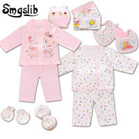 Smgslib 18 Pieces Lot Cartoon Baby Girl Clothes New Born Baby Boy Clothes Long Sleeve Bodysuit