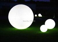 3 шт./компл. 20 + 30 + 50 см Комбинации стилей Водонепроницаемый светодиодные лампы мяч светящийся пейзаж Сад декоративные огни торшеры