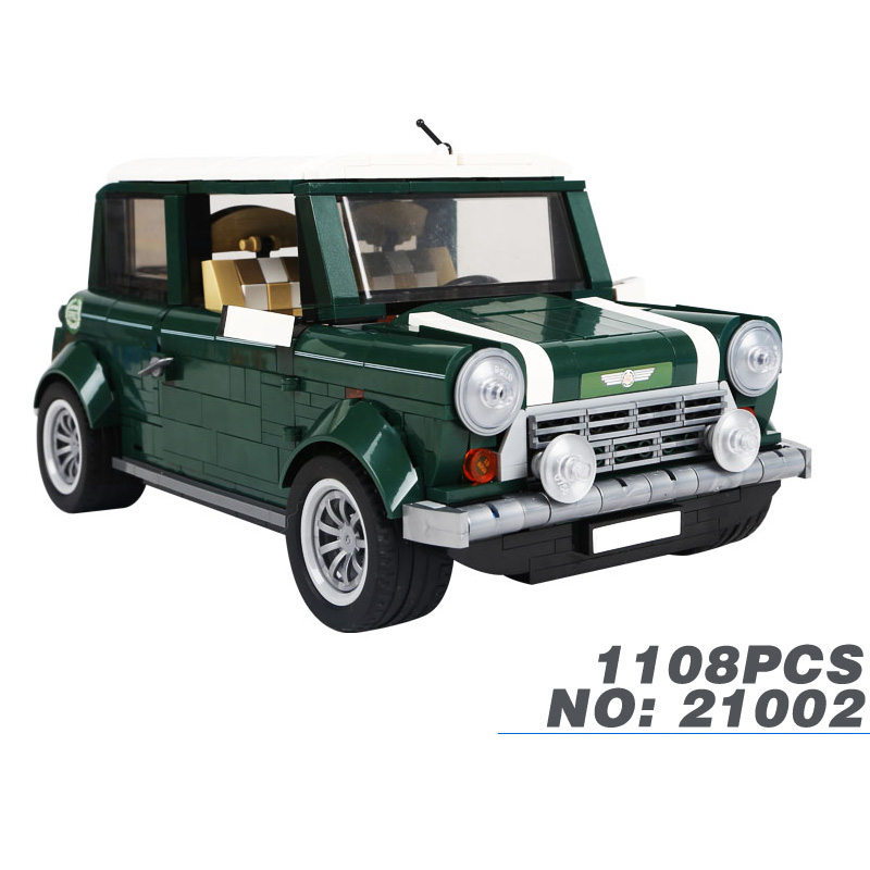 Фотография Hot Classic Creator car-styling scale Retro MINI COOPERS car building block model Picnic bricks 10242 toys collection for kids