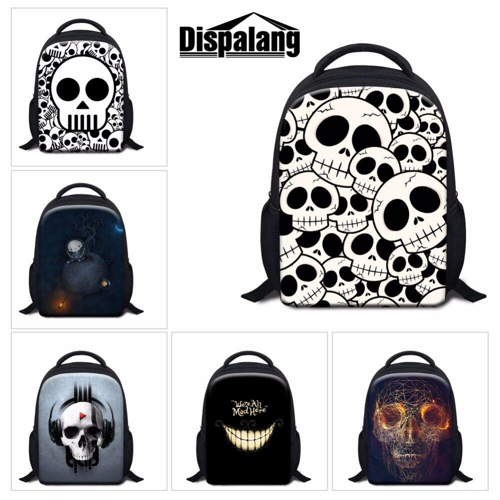 16e0f37bb365 Skull Backpacks for Kids Children Cool School Bookbags for Boys Little  Girls Kindergarter Back Pack Small Mochilas Traveling Bag