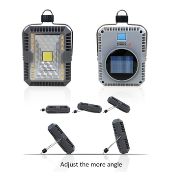 T-SUNRISE LED Camping Lights 3 Mode Outdoor Tent Camping Lantern Solar Flashlights Lamp USB Rechargeable Portable Hanging Lamps 3