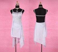 Shiny Rhinestone Latin Dance Dresses For Women White Rumba Samba Dance Dress Ladies Holiday Prom Performance Clothing