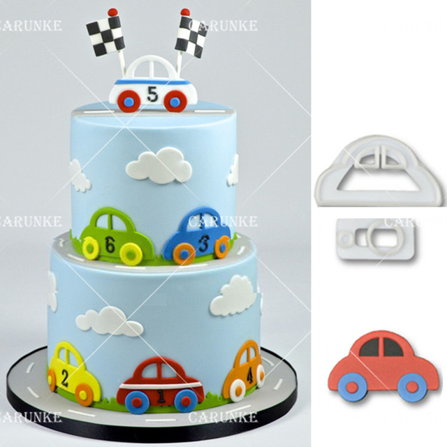 Toy Car plastic fondant cutter flower cutter fondant molds Cake