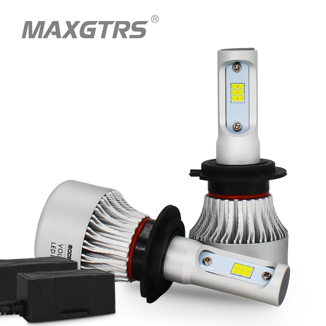 2x H1 H3 H4 H7 H8 H11 HB3 HB4 9005 HB3 9012 H16 Canbus CSP COB Led 72W Car Headlight Light Replacement Bulb Auto Driving Lamp