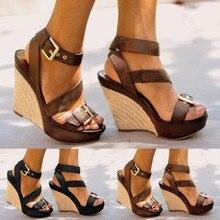 Летние босоножки; Женская обувь в стиле ретро; сандалии из искусственной кожи на толстой подошве; женская повседневная обувь; женские Вьетнамки; обувь