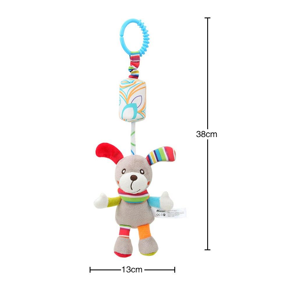 Детские погремушки Fulljion, развивающие игрушки для детей, Прорезыватель для зубов, Колокольчик для малышей, детская коляска, подвесные куклы - Цвет: puppy