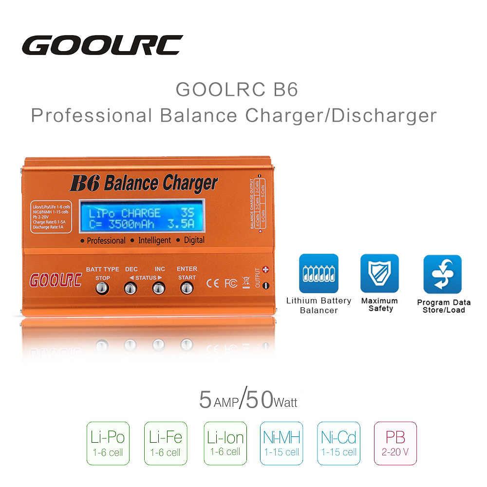 Asli Gool RC B6 Mini Multi Fungsional 50 W Battery Balance Charger/Discharger untuk Lipo Lilon Hidup NiCd NiMH PB Baterai RC Bagian