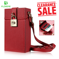 FLOVEME Lovely Girl Messenger Bag Phone Case Para el iphone 6 6 s X 7 8 Plus 5.5