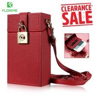 FLOVEME Lovely Girl Messenger Phone Bag Case For IPhone 6 6s X 7 8 Plus 5