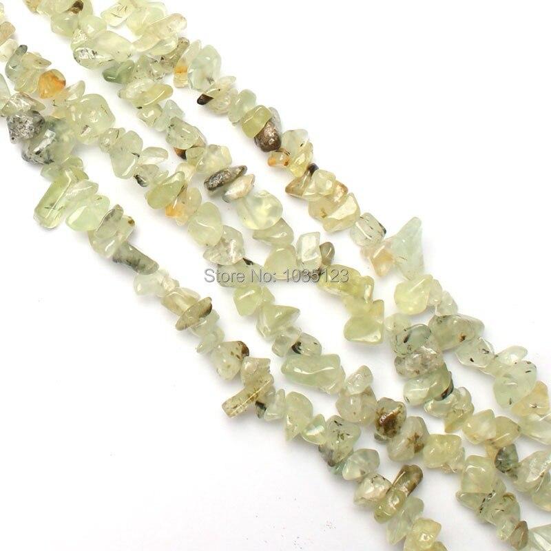 Envío libre AAA 6-8mm piedra verde natural grava piedra suelta ...