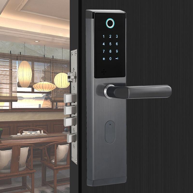 HTB1hM8zVFzqK1RjSZFvq6AB7VXaH YOHEEN Smart Biometric Fingerprint Lock with Digital Password RFID Card Key Electronic Smart Fingerprint Door Lock