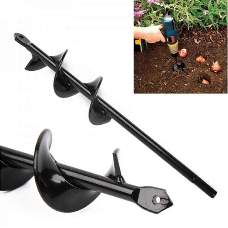 Konesky Hand Drill Electric Charge Electric Drill Ground Bit Irrigating Planting Auger Drill Bit Digs Hole Digger Garden Tool