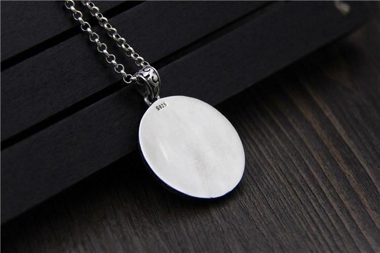 C & R Real 925 pendentif en argent Sterling collier pour femmes hommes Vintage personnalité soleil Totem étiquette ronde bijoux fins - 5