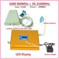 Display LCD Dual Band Sinal Celular Impulsionador GSM 3G LTE FDD GSM 900 3G UMTS 2100 Extensor Amplificador WCDMA 2100 Repetidor Móvel