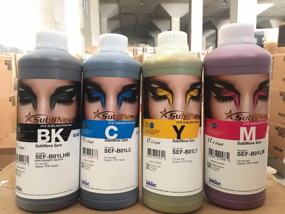 все цены на  Inktec Sublinova Transfer Ink Fabric Dye Sublimation Ink for Epson TFP Print Head  онлайн
