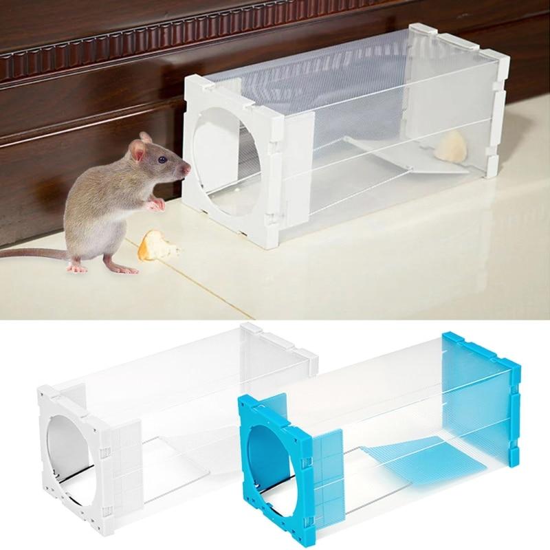 Casa trampas para ratas ratón plagas Animal ratones roedor repelente al cebo caja transparente SD-JQ