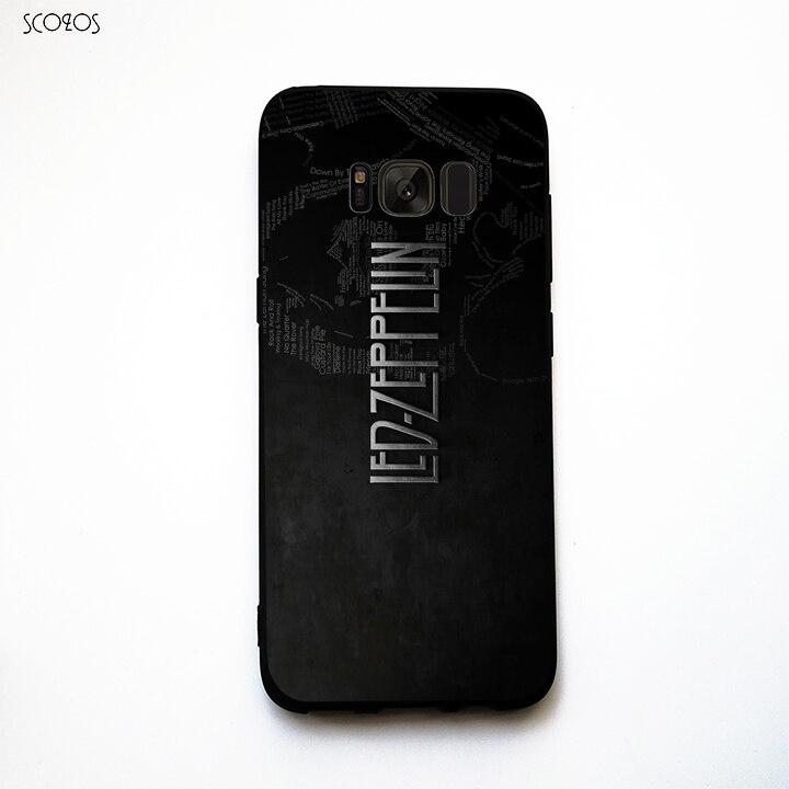 SCOZOS LED ZEPPELIN LYRIC phone case soft Cover For Samsung Galaxy S6 S7 Edge S8 Plus J3 J5 J7