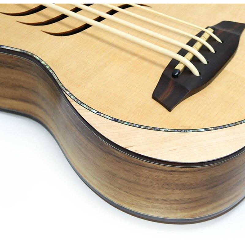 Guitare électrique 30 pouces Ubass 30 pouces 4 cordes Mini UKU guitare électro pick-up Sculpture - 4