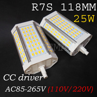 DHL ups fedex ems shipping High power 25w 118mm LED R7S light without Fan 64PCS 5630 SMD J118 R7s lamp AC85 265V