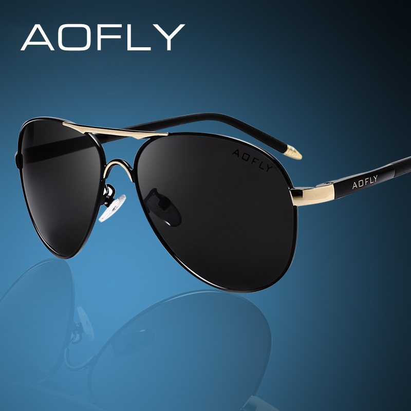 AOFLY Brand Män Solglasögon Mode Cool Polarized Sports Men Solglasögon Man Driving Sun Glasses For Men Vintage Gafas De Sol