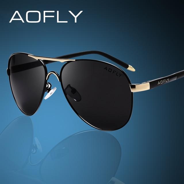 AOFLY Brand Men Sunglasses Fashion Cool Polarized Sports Men Sunglasses Male Driving Sun glasses for men Vintage Gafas De Sol