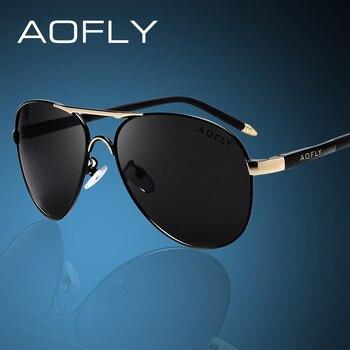 965d8c0839 AOFLY Marca de Moda Gafas de Sol para Hombres Polarizadas Fresco Deportes  de Los Hombres Gafas de Sol Masculinas de Conducción Gafas de Sol para  hombres ...