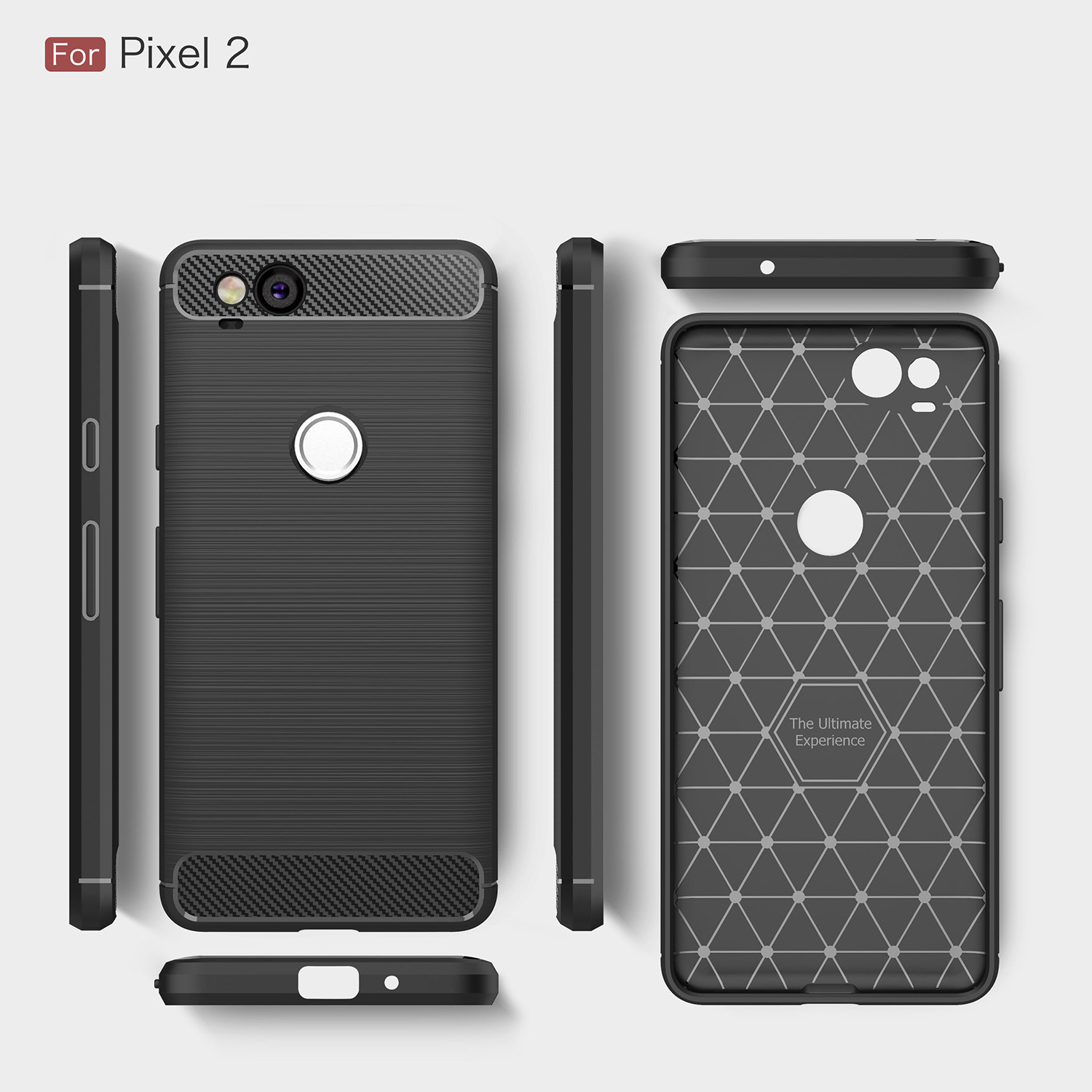 Cases for Google G 011A 011 A Pixel 2 2017 G011A Silicon TPU Thin Back Cover for Google Pixel 2 Pure color phone housing