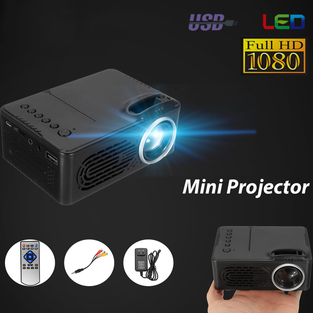 Flash Promo 1080P 400 Lumens HD Mini Portable Projector 1920x1080 Max resolution Digital Projector For TV LED Home Theater
