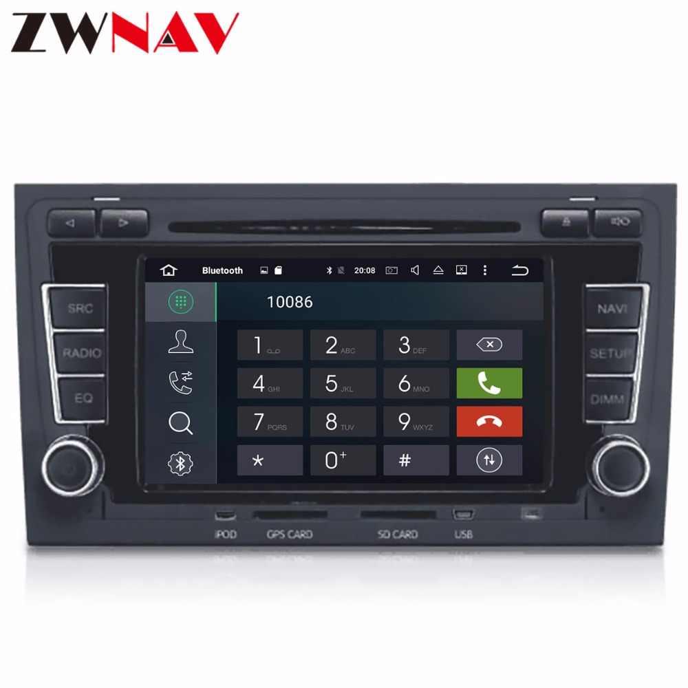 """7 """"unidade de Tela de Toque HD DVD player Do Carro estéreo para Audi A4 S4 RS4 Android 8.1 2002-2008 com Wi-fi 4g GPS BT Rádio USB Mapa Livre"""