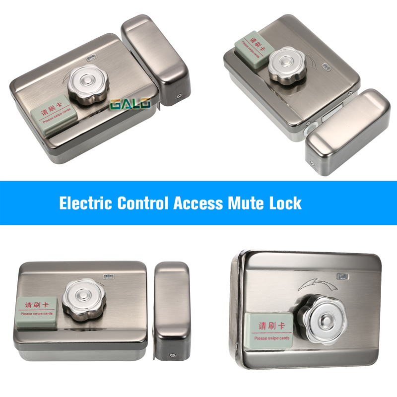 5 tags free Door & gate lock castle Access Control Electronic integrated RFID Door Rim lock RFID reader for intercom