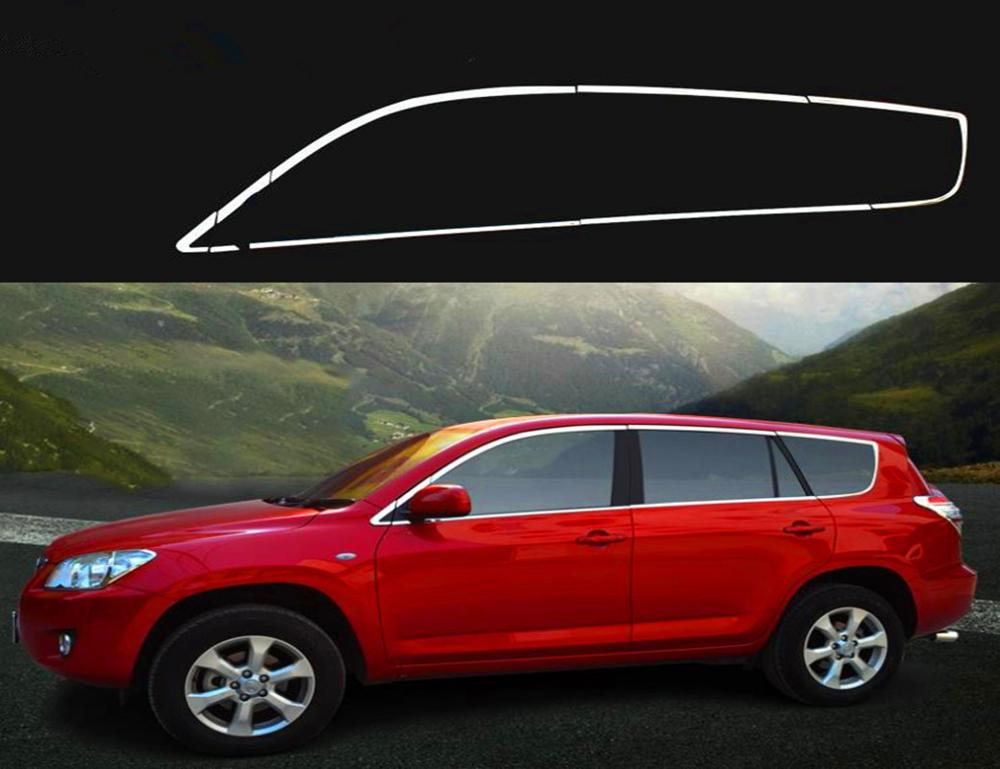 Full window trim(16pcs) for <font><b>toyota</b></font> <font><b>RAV4</b></font> <font><b>2006</b></font> 2007 2008 2009 <font><b>2010</b></font> 2011 2012 only fit for North American long style image