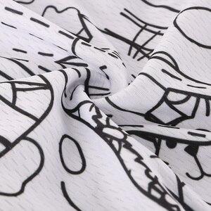 Image 4 - 통기성 Unisex 화이트 만화 고양이 사이클링 저지 봄 안티 필링 친환경 자전거 의류 도로 팀 자전거 착용 셔츠