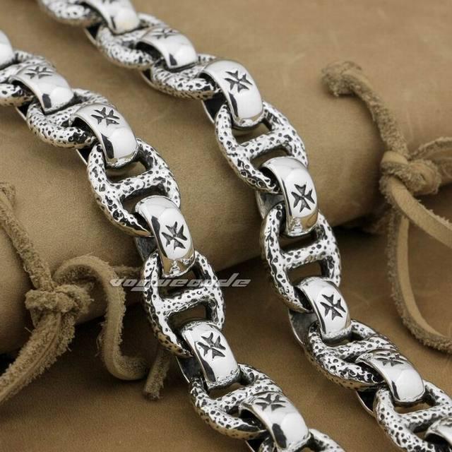 14″ to 30″ Solid 925 Sterling Silver Hook Belt Clip Huge Heavy Mens Biker Rock Punk Wallet Chain 8W006WC