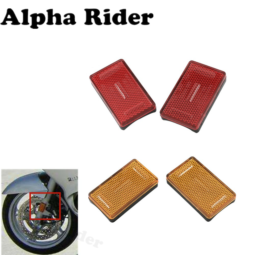 Front Fork Leg Reflector Cover for BMW K1200RS K1200GT R1200RT R1200GS R1200R R1200 GS Adventure High Quality Plastics New 1 pair front fork leg reflector cover high quality plastics for victory judge hammer s hard ball vision tour high ball jackpot