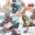 Cura chakra Cuarzo Cristal de Piedra Natural al por mayor Del Ángel de Piedra Colgante de Los Encantos 24 Unids/lote Para Mujeres Collares Regalos de elaboración
