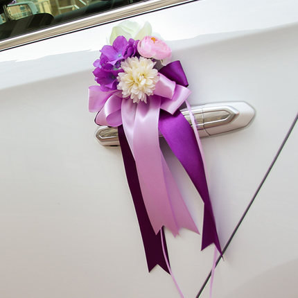 Silk Roseribbon Flower Decoration For Car Wedding Car Decoration