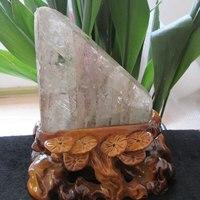 1.92lb AAA + + большой красный Phantom кварцевый камень минеральный образец палочка Рейки Исцеление Mountain слоев украшения дома