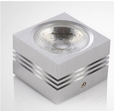Free shipping Dimmable 7W 12W high power led downlight aluminum 86 265V AC surface mounted led lighting square led downlights in Downlights from Lights Lighting