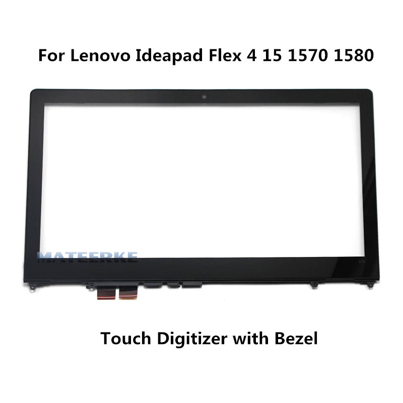 For Lenovo Ideapad Flex 4 15 Flex 4-1580 80VE 1570 80SB Touch Screen Digitizer Glass (with Bezel) free shipping for lenovo flex 2 15 flex 2 pro 15 new touch panel touch screen digitizer glass lens replacement repairing parts