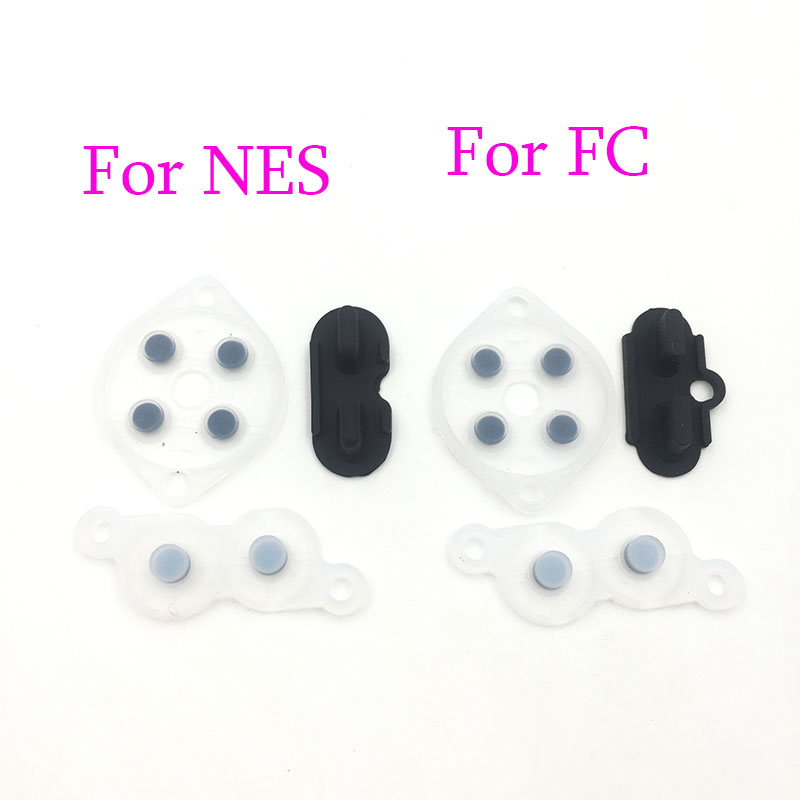 2sets Rubber Repair Rebuild Replacement Parts For NES Controller Joy  A B D Pad Silicon Start Rubber Button