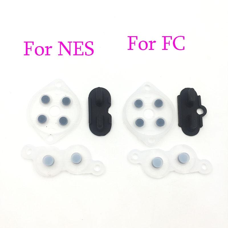 2sets Rubber Repair Rebuild Replacement Parts For NES Controller Joy  A B D Pad Silicon Start Rubber Button