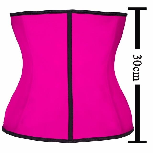 Women Trainer Latex Shapewear Slimming Belt 9pcs Steel Bone