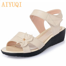 AIYUQI Sandals summer women Fashion wedge sandals Women Shoes Casual large size Female Roman mother Sandal footwear