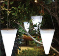 Direct Wholesale Solar Hanging Light cone Christmas decoration outdoor garden to be inserted Dengcao